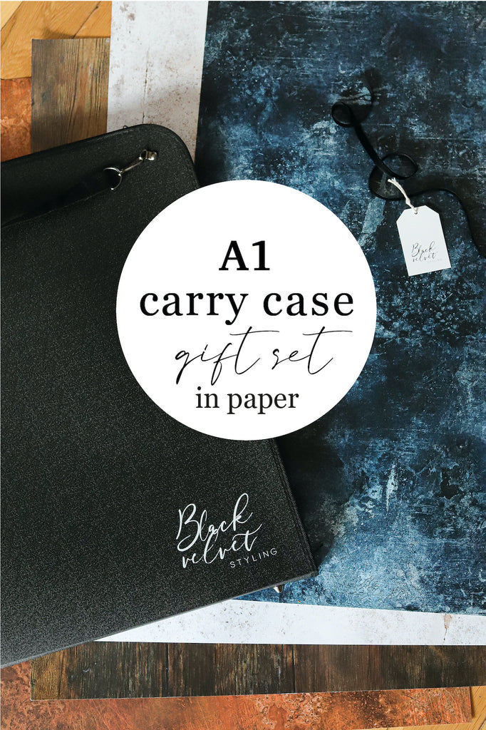 Bespoke Set of Four A1 Photography Backdrops & Carry Case Gift Set