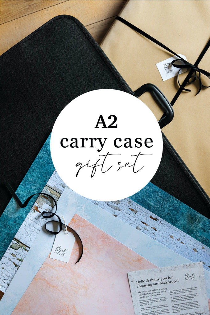 Bespoke Set of Four A2 Photography Backdrops & Carry Case Gift Set