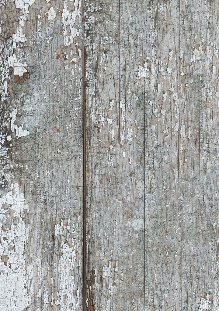 510. 'Beaten' old painted wood, A1 vinyl photography background