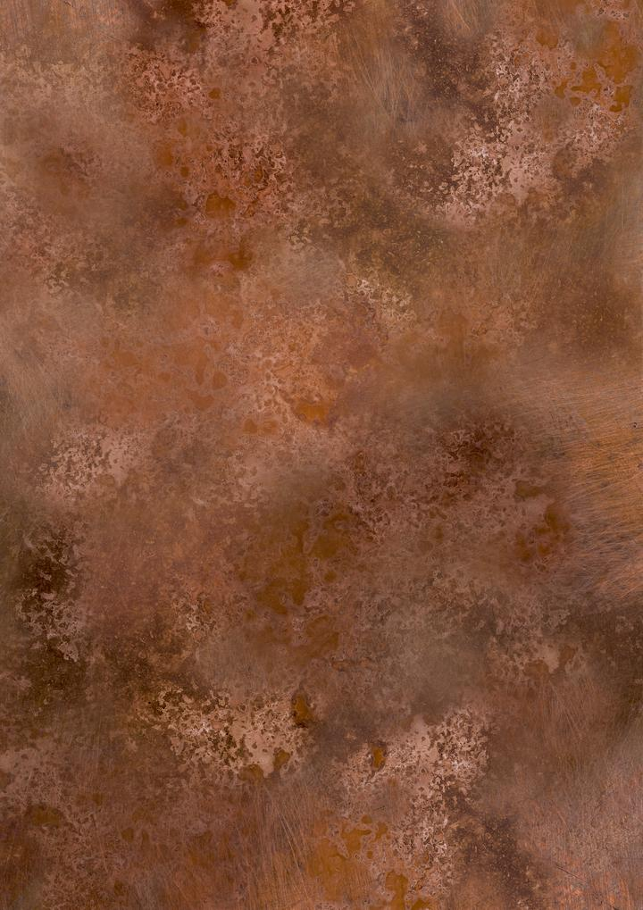 518. 'Bright copper' metal patina, A1 vinyl photography background