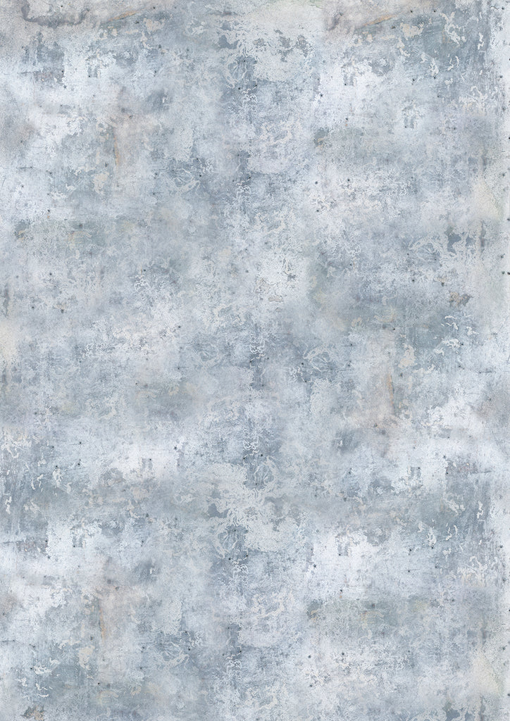 145. Large 'Bleach' light blue/grey weathered effect printed photography background, A0 size paper sheet