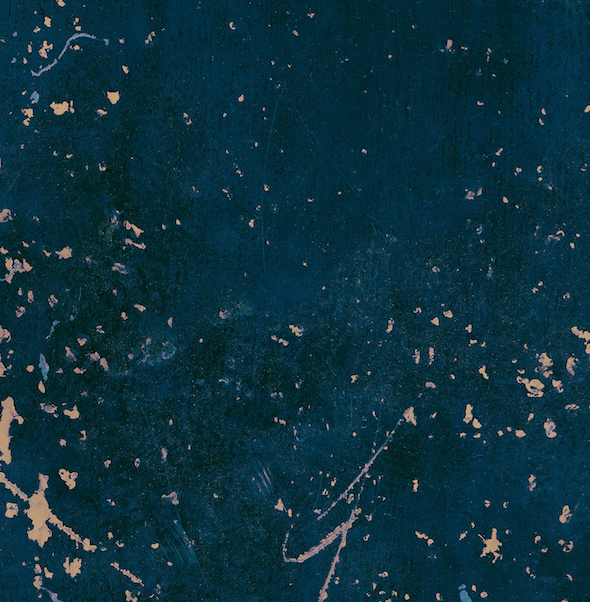 509. 'Freya' curated blue metal, A1 vinyl photography background