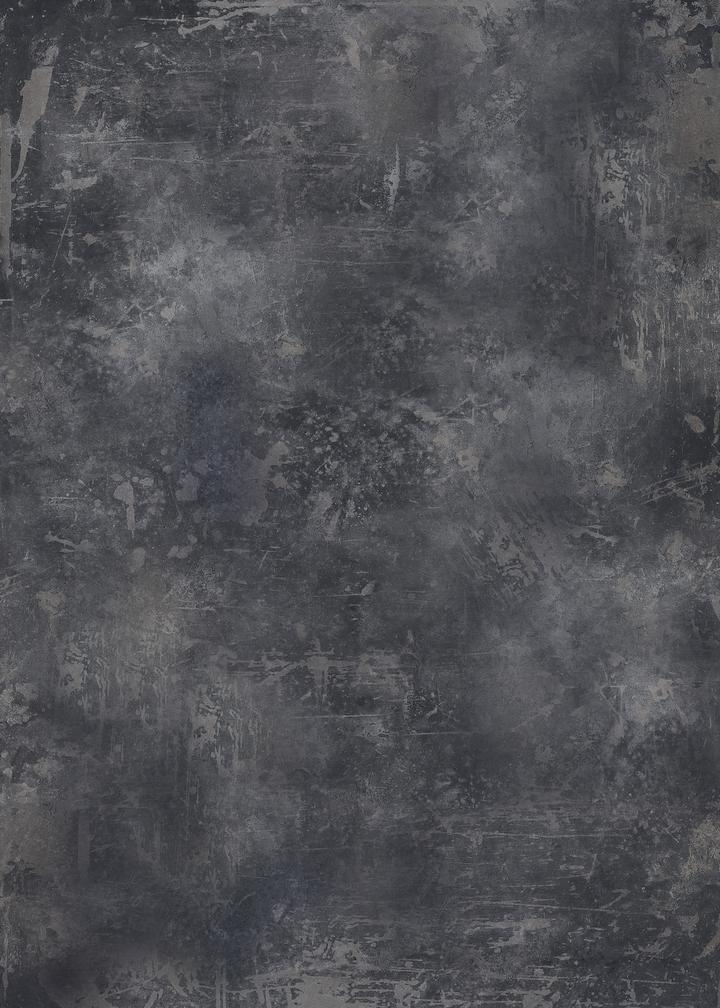 506. 'Rum' dark grey, weathered metal, A1 vinyl photography background