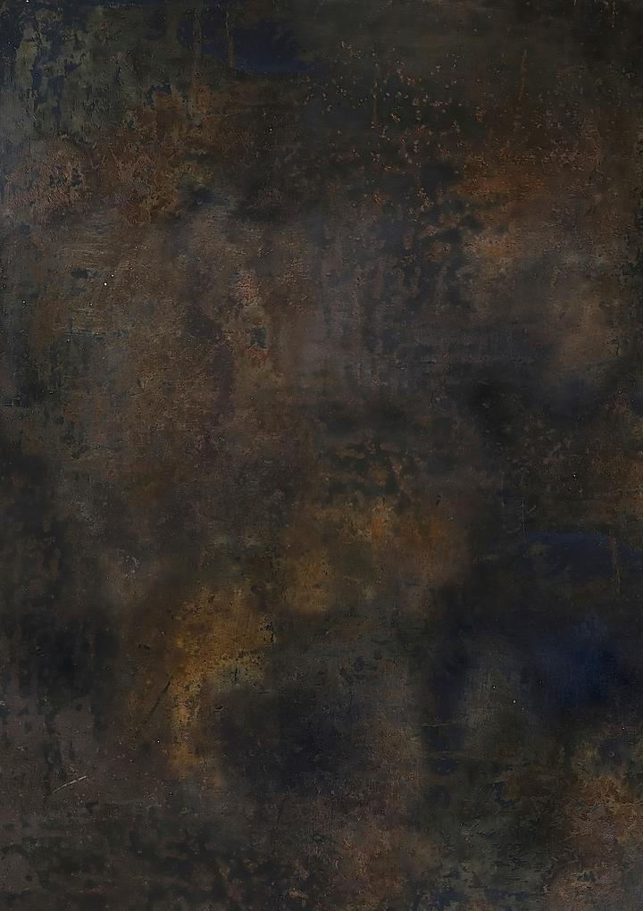 516. 'Safe' brown mottled metal, A1 vinyl photography background