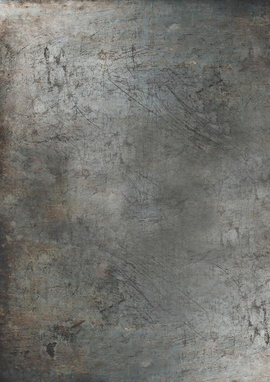 575. 'Stan' grey scratchy metal effect, A1 vinyl photography background