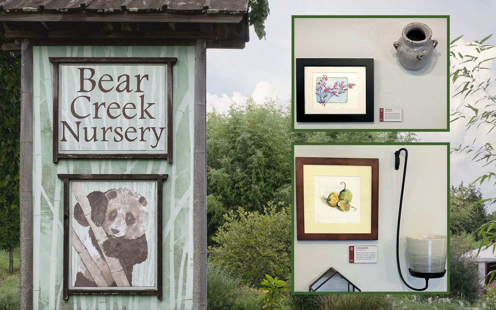 Botanical Prints at Bear Creek Nursery