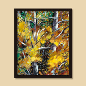 Aspen Thicket | mixed media painting by Michelle Marta-Drake