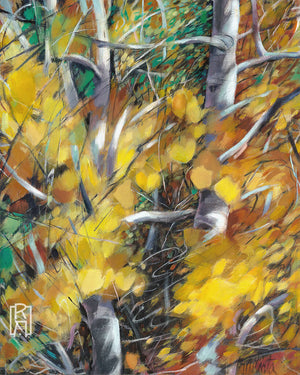 Aspen Thicket | Abstract Landscape Painting by Michelle Marta-Drake