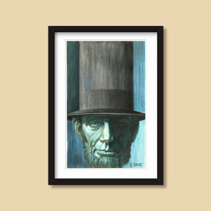 Blue Lincoln — vintage illustration by Ray Marta