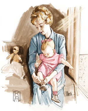 """The Nursery"" vintage illustration by Ray Marta"