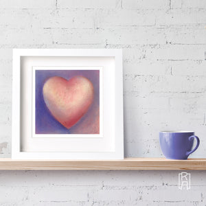 Framed version of Dear Heart from the Heartworks Collection by Michelle Marta-Drake