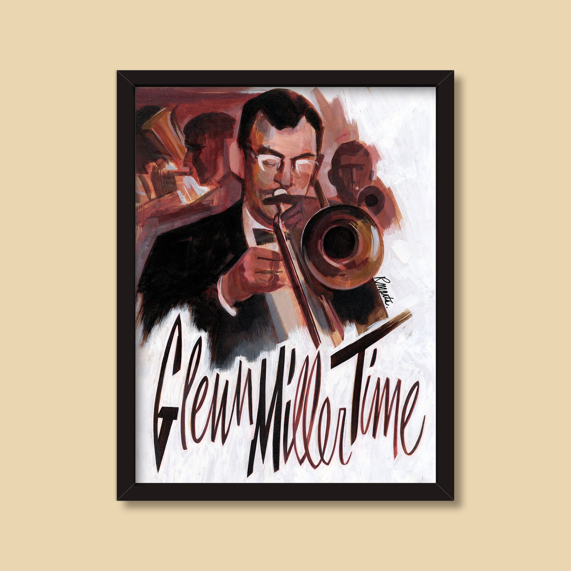 Glenn Miller Time — vintage illustration by Ray Marta
