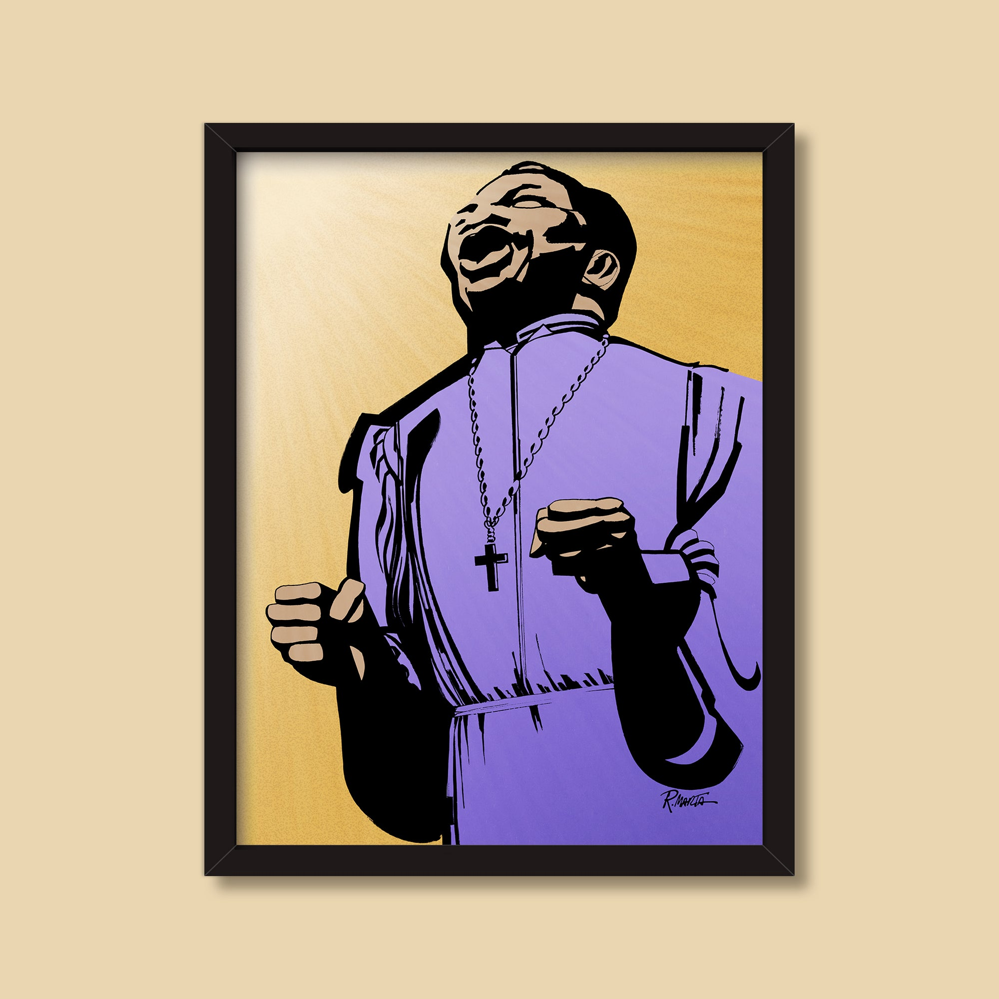 Gospel Singer — vintage illustration by Ray Marta