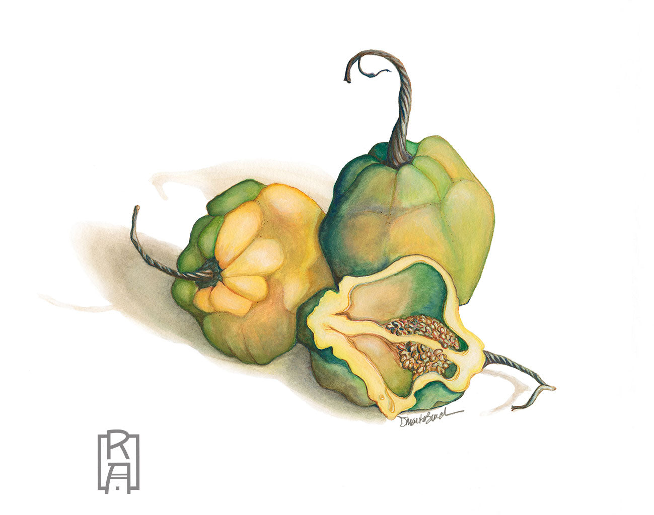 Habaneros | Mixed Media Painting by Denise Marta-Burch
