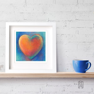 Framed version of Heartfelt from the Heartworks Collection by Michelle Marta-Drake