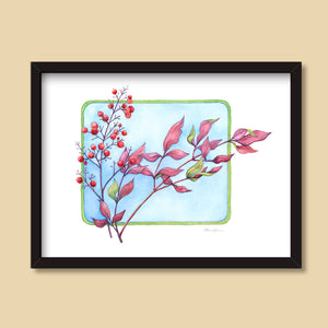 Heavenly Bamboo | Watercolor Painting by Denise Marta-Burch