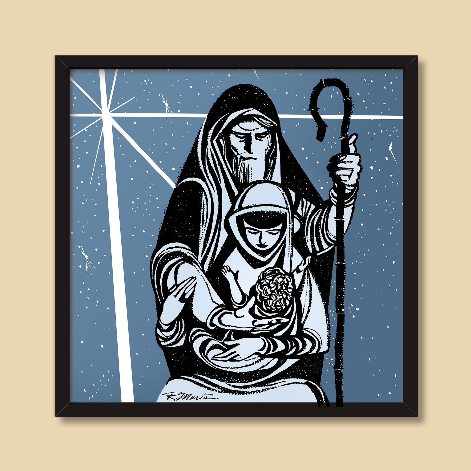 Holy Family | Vintage illustration by Ray Marta