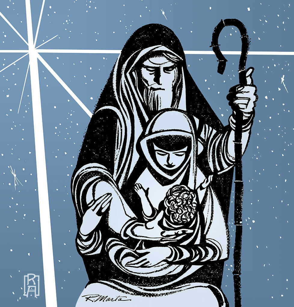 """Holy Family"" vintage illustration by Ray Marta"