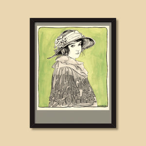 Lillian Gish — vintage illustration by Ray Marta