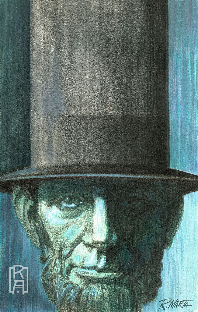 """Blue Lincoln"" vintage illustration by Ray Marta"
