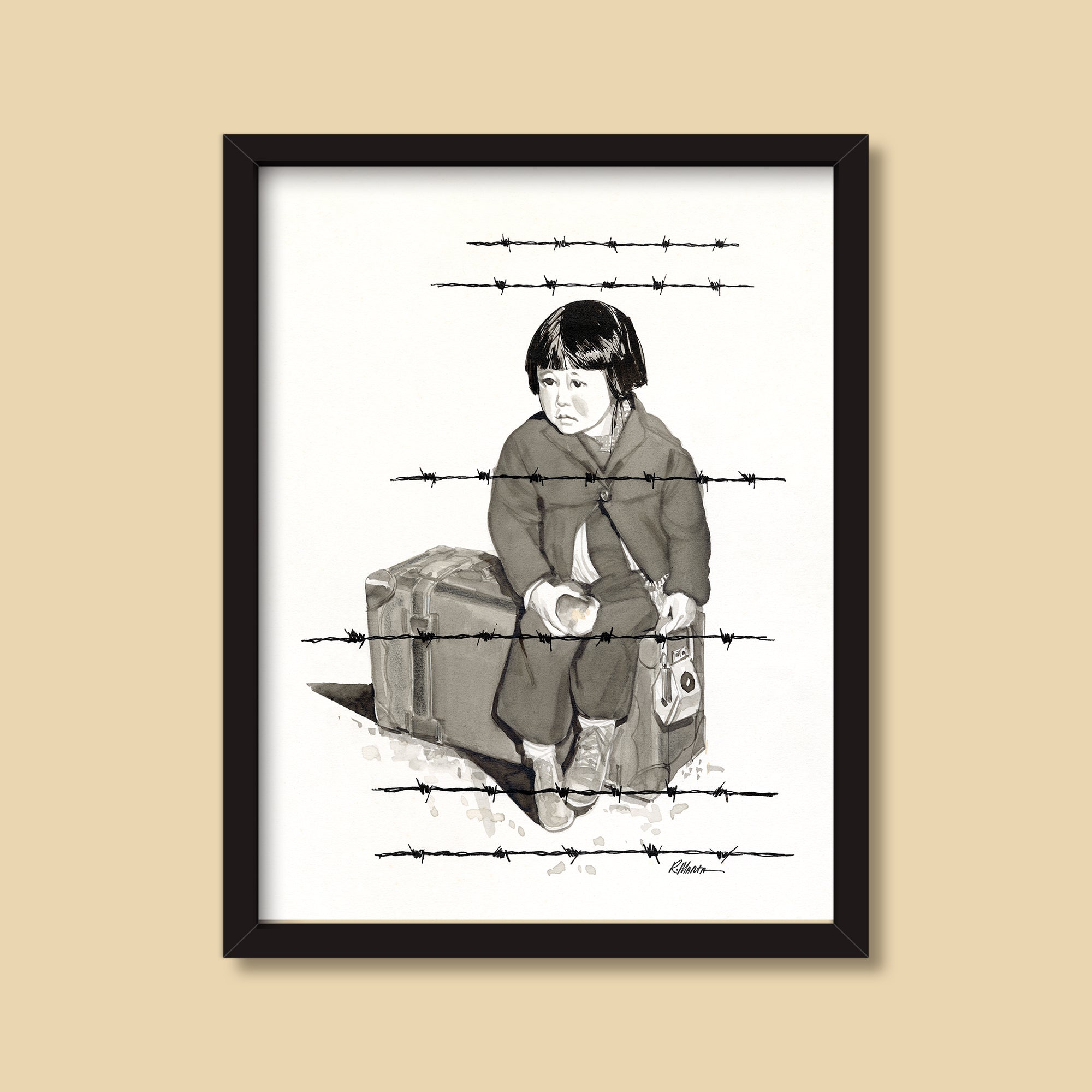 Move to Manzanar — vintage illustration by Ray Marta