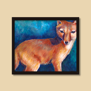 Red Fox | Mixed Media Painting by Denise Marta-Burch