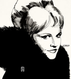 """The Chanteuse"" vintage illustration by Ray Marta"