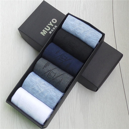 6pairs of socks in a gift box with Bamboo Fiber and Classic Business look