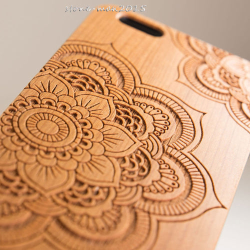 Natural Bamboo Hard Case Cover For iPhone