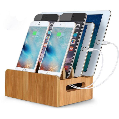 Natural Bamboo Universal Charging Stations