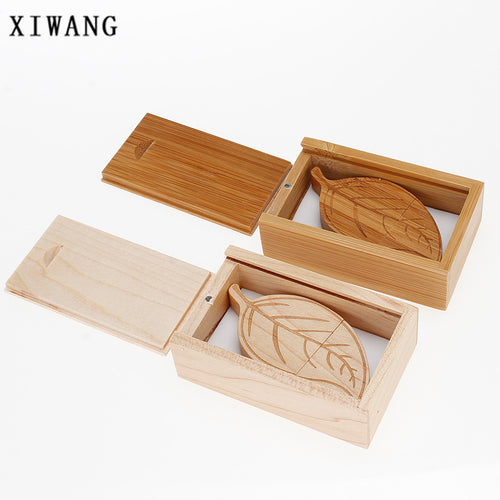 Natural Bamboo leaf memory stick 4-64GB USB
