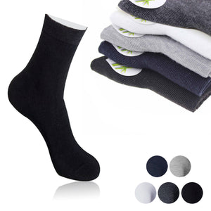 Casual breathable Cotton & Bamboo Fiber Classic Business Men's Sock 1pair Solid