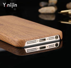 Phone Case For iPhone 8 7 6 Plus Ultrathin Soft Wood