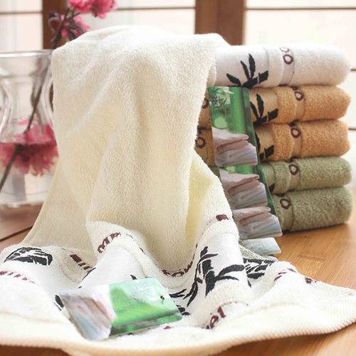 Ultra-soft Absorbent Bamboo Washcloth Gym Bath Face Towel