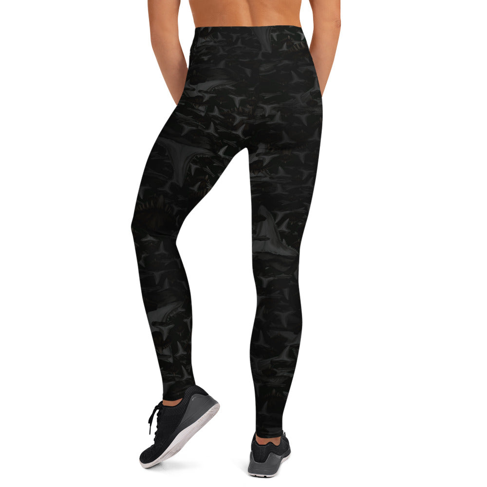 Shark Tooth Yoga Leggings