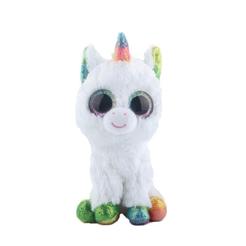 Ty Beanie Boo Colorful White Unicorn Cuddly Toy – chipidy 876102628d5