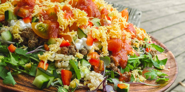 Beans & Rice Salad : Mexican style