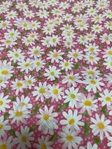 Face Mask - Daisys on Pink