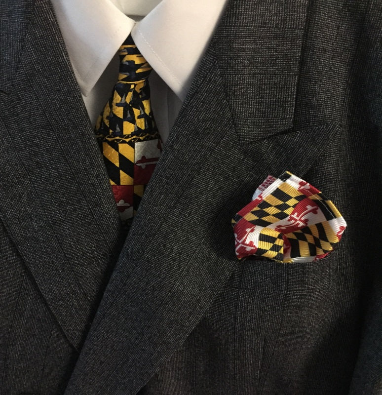 Maryland State Flag - Men's Pocket Square