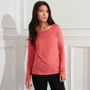 Anvil women's featherweight long sleeve sheer scoop tee