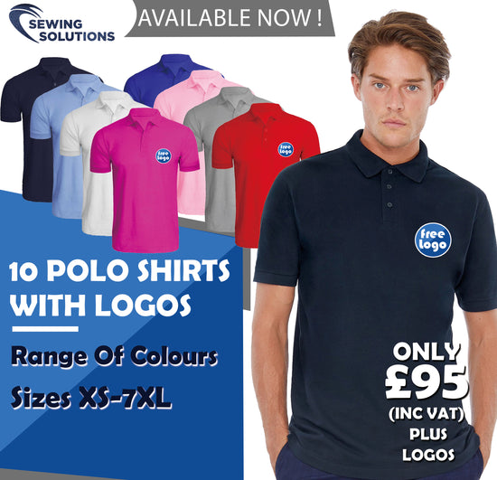 10 Polo Shirts Bundle - Work Wear Package