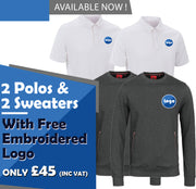 2 Polo Shirts and Sweatshirts WorkWear Package