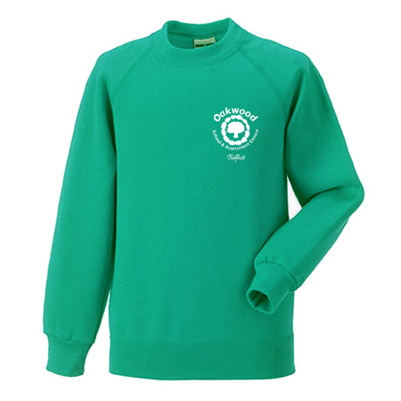 Oakwood School - 7620b Kids raglan sleeve sweatshirt