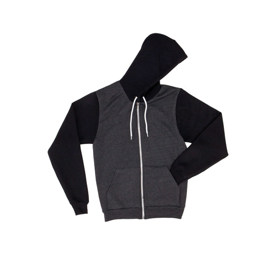 Two-tone flex fleece zip hoodie (F497)