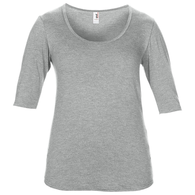 Anvil women's triblend deep scoop ½ sleeve tee