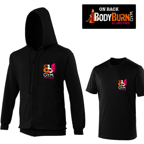 Body Burn - Zip-up & Cool Fit Tshirt Offer