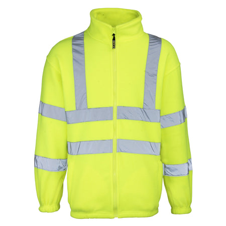 High-visibility full zip fleece