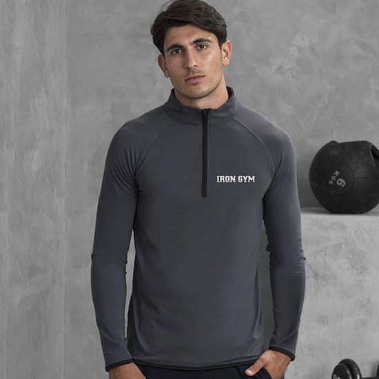 Iron Gym - JC031 Cool ½ zip sweatshirt