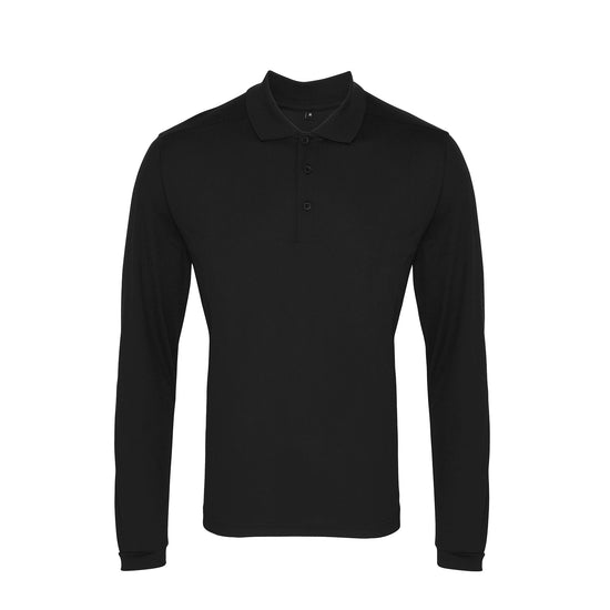 Long sleeve Coolchecker® piqué polo