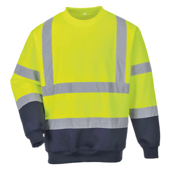 Hi-vis two-tone sweatshirt (B306)